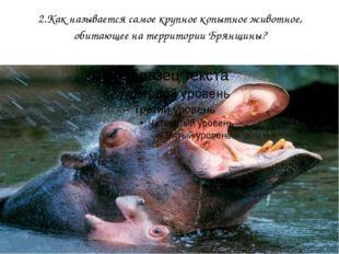2.Как называется самое крупное копытное животное, обитающее на территории Бря