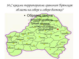 14.С какими территориями граничит Брянская область на севере и северо-востоке?