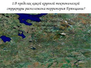 1.В пределах какой крупной тектонической структуры расположена территория Бря