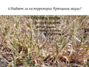 6.Бывают ли на территории Брянщины засухи?