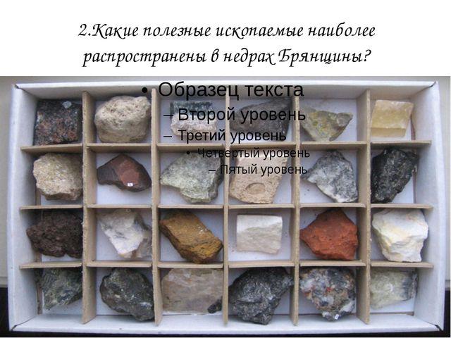 2.Какие полезные ископаемые наиболее распространены в недрах Брянщины?