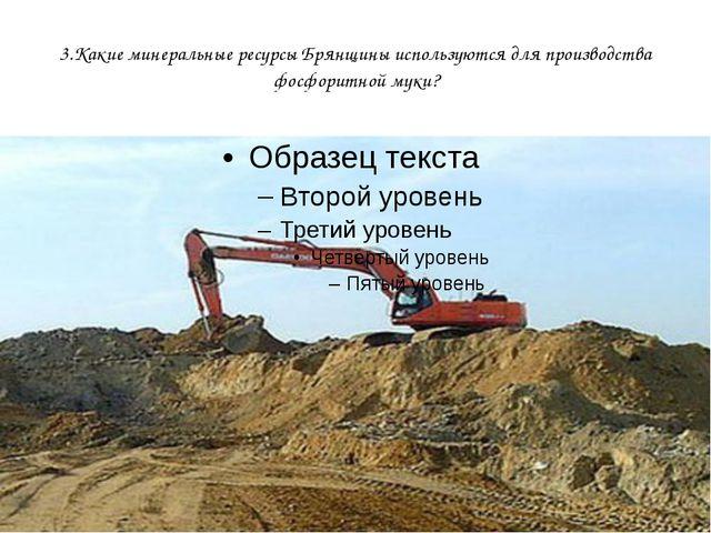 3.Какие минеральные ресурсы Брянщины используются для производства фосфоритно...