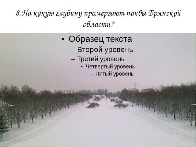 8.На какую глубину промерзают почвы Брянской области?