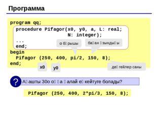 Процедура (сурет салу және өшіру) procedure Draw(x, y: integer; flag: boolea