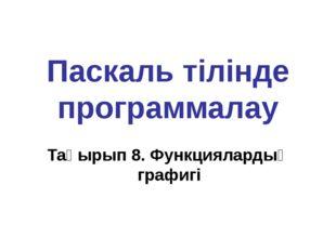Паскаль тілінде программалау Тақырып 9. Процедуралар