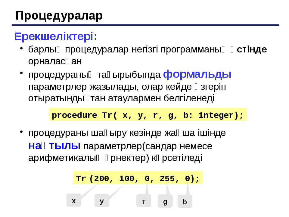 Паскаль тілінде программалау Тақырып 10. Рекурсия