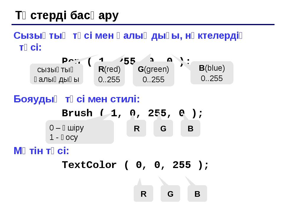 Штрихтер салу (x1, y1) (x2, y2) N сызық (N=5) h Rectangle (x1, y1, x2, y2);...