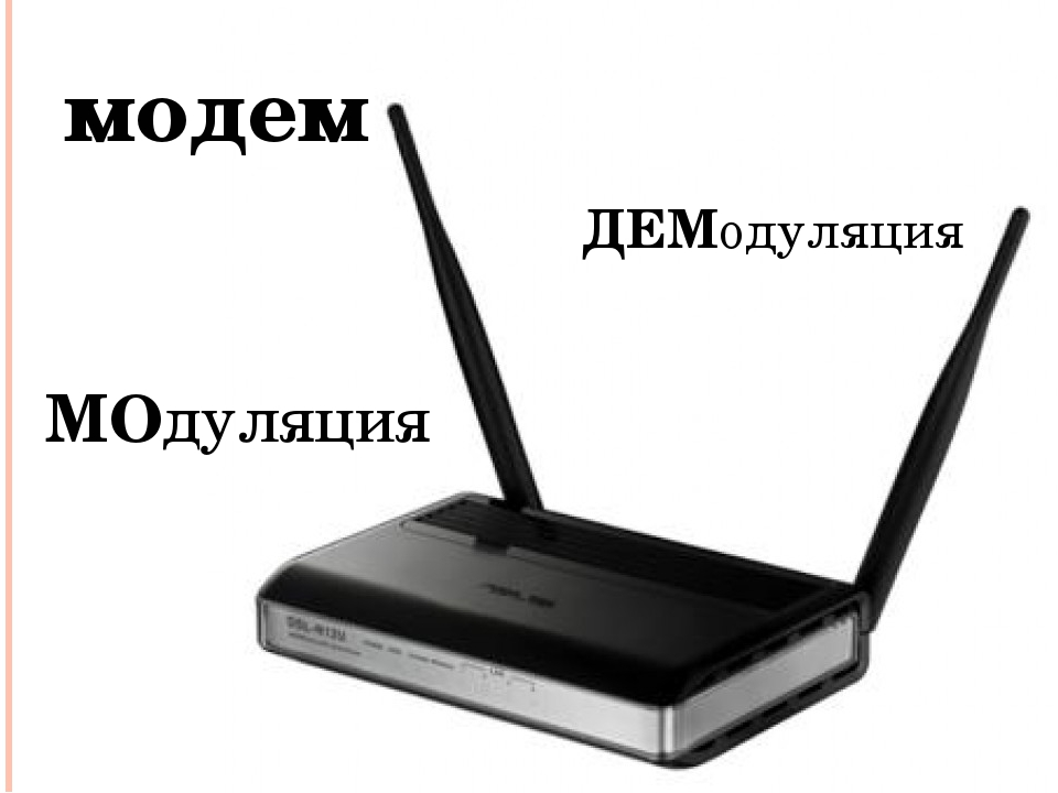 модем МОдуляция ДЕМодуляция