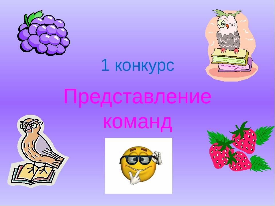 1 конкурс Представление команд