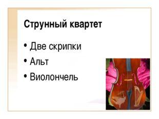 Струнный квартет Две скрипки Альт Виолончель