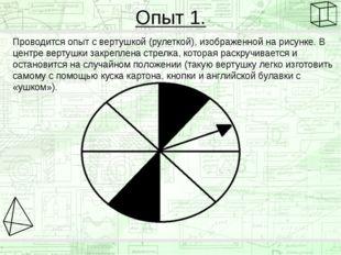 Опыт 1. Проводится опыт с вертушкой (рулеткой), изображенной на рисунке. В це