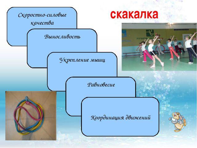 Скоростно-силовые качества Выносливость Укрепление мышц Равновесие Координаци...