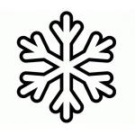 Раскраска Снежинка для маленьких детей