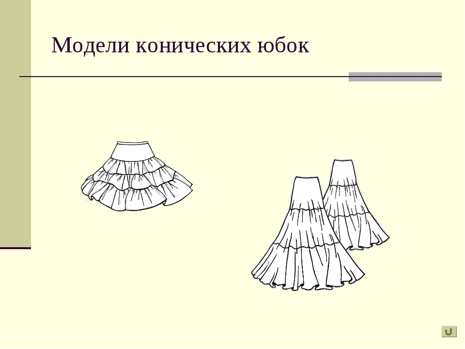 Модели конических юбок