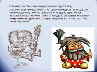 Славяне считали, что каждый дом находится под покровительством домового, кот