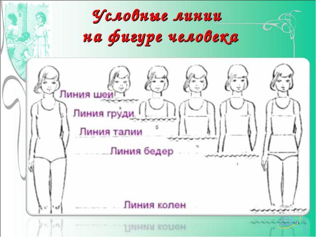 Условные линии на фигуре человека