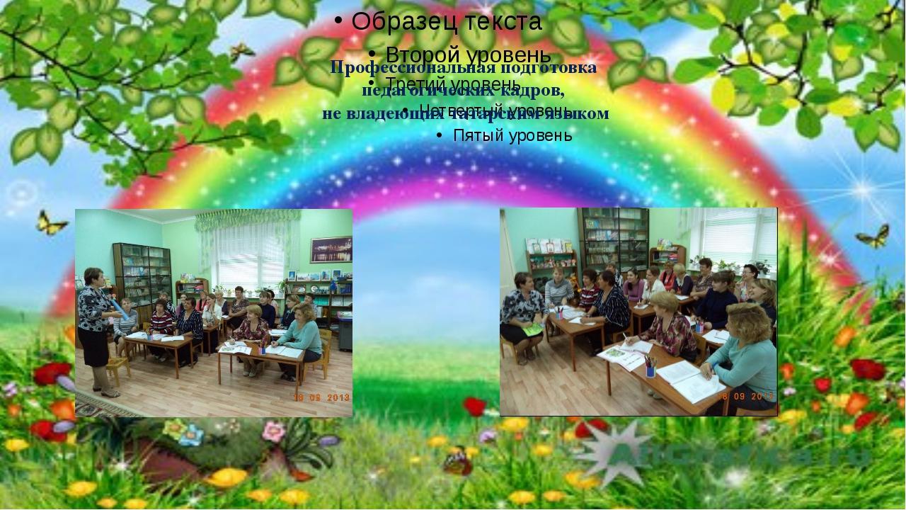Профессиональная подготовка педагогических кадров, не владеющих татарским язы...