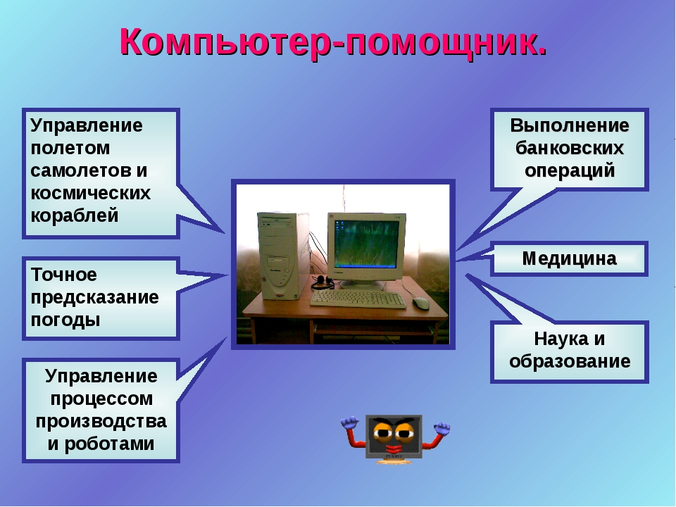Компьютер-помощник. Выполнение банковских операций Медицина Точное предсказан...
