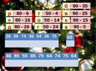 80 - 16 80 - 26 80 - 6 50 - 24 50 - 14 50 - 4 90 - 5 90 - 15 90 - 25 90 - 35