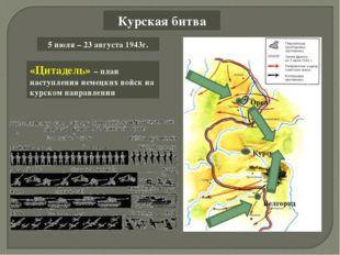 Курская битва «Цитадель» – план наступления немецких войск на курском направл
