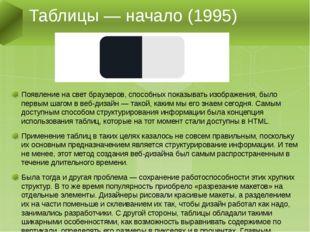 Появление на свет браузеров, способных показывать изображения, было первым ша