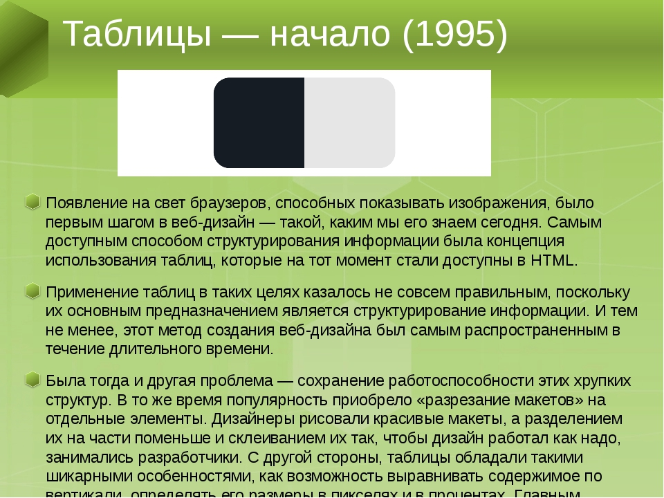 Появление на свет браузеров, способных показывать изображения, было первым ша...