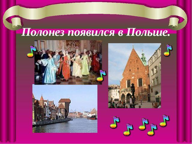 Полонез появился в Польше.