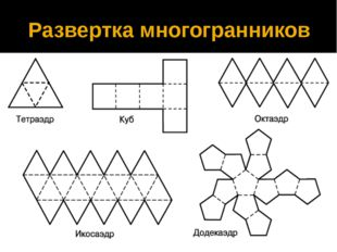 Развертка многогранников
