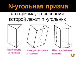 Поверхность призмы Полная поверхность Sполн. Поверхность – это сумма площадей