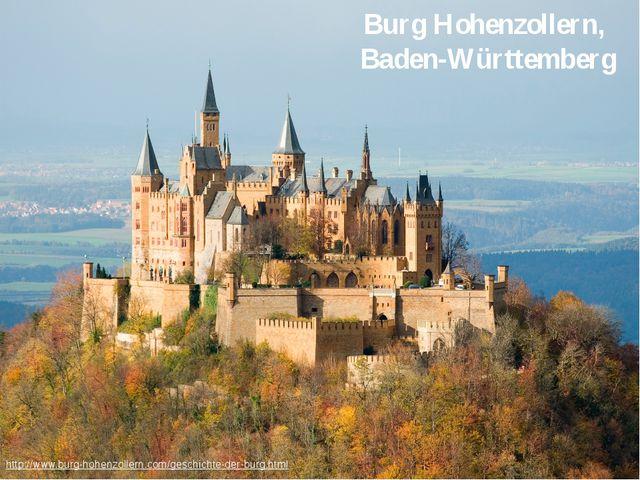 Burg Hohenzollern, Baden-Württemberg http://www.burg-hohenzollern.com/geschi...