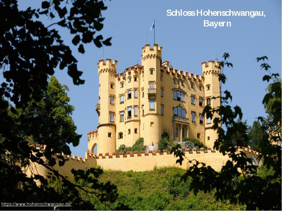 Schloss Hohenschwangau, Bayern https://www.hohenschwangau.de/