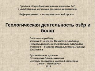 Средняя общеобразовательная школа № 242 с углублённым изучением физики и мат