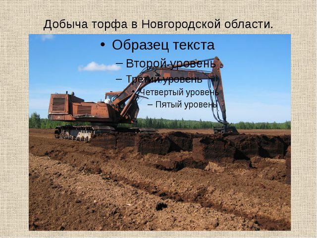 Добыча торфа в Новгородской области.