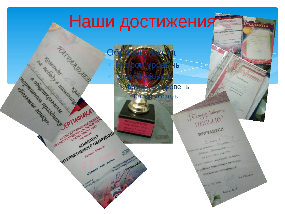 Наши достижения