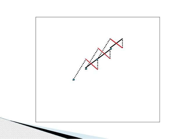 Наклонный ряд : нижний стежок – из левого нижнего в правый верхний угол,