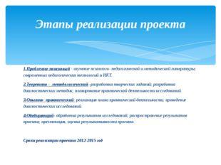 1.Проблемно-поисковый - изучение психолого- педагогической и методической ли