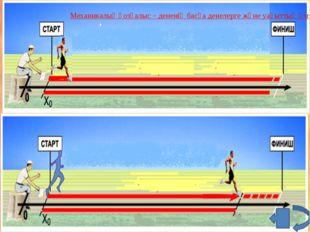 Механикалық қозғалыс – дененің басқа денелерге және уақыттың өзгеріуіне байл