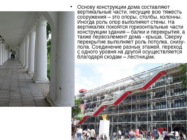 Основу конструкции дома составляют вертикальные части, несущие всю тяжесть со...