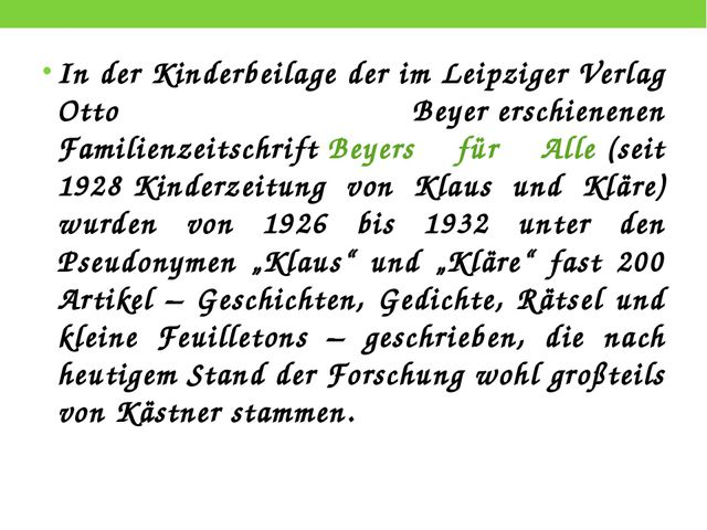 In der Kinderbeilage der im LeipzigerVerlag Otto Beyererschienenen Familien...