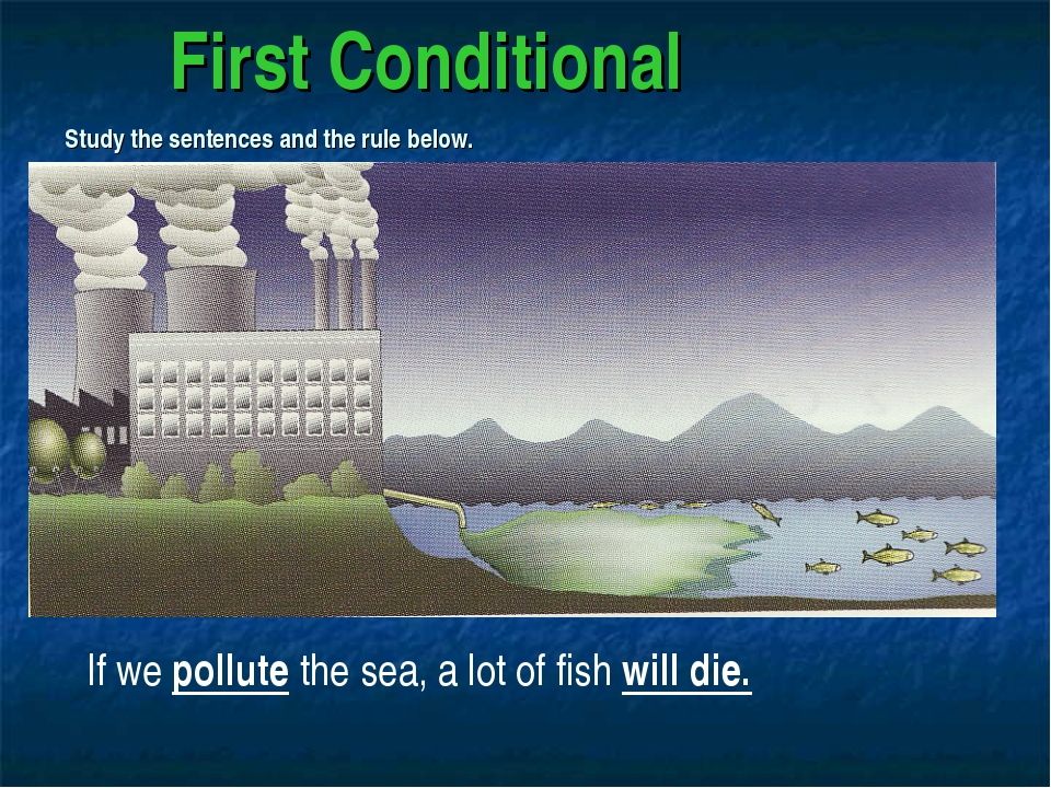 First Conditional Study the sentences and the rule below. If we pollute the...
