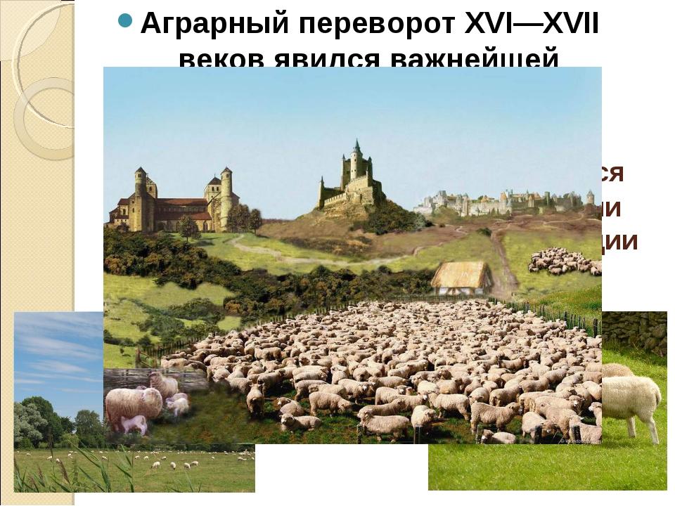 Аграрный переворот сопровождался огораживаниями – сгон дворянами крестьян с и...