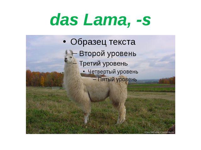 das Lama, -s