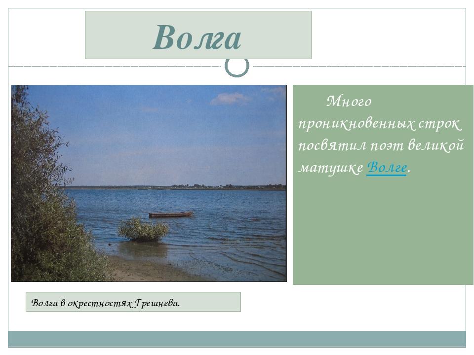Много проникновенных строк посвятил поэт великой матушке Волге. Волга в окре...