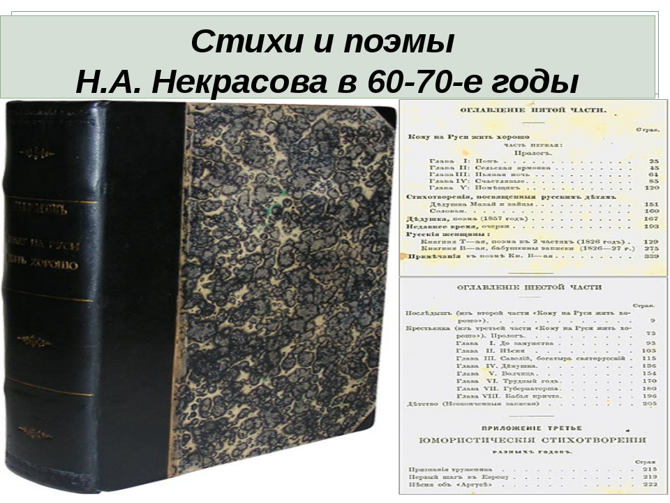 Стихи и поэмы Н.А. Некрасова в 60-70-е годы