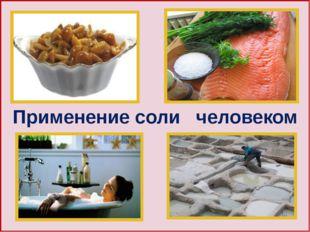 Применение соли человеком