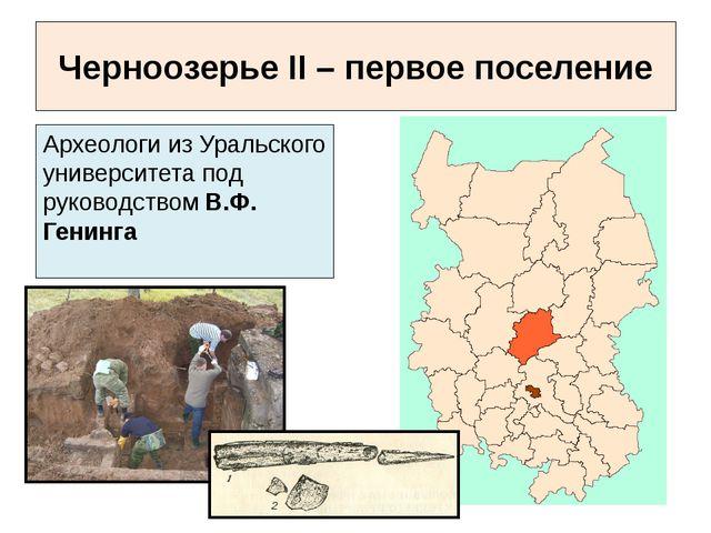 Археологи из Уральского университета под руководством В.Ф. Генинга Черноозерь...