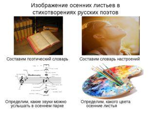 Изображение осенних листьев в стихотворениях русских поэтов Составим поэтичес