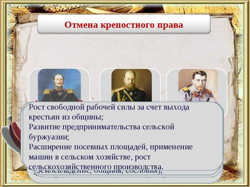 Александр П Причины отмены крепостного права: Кризис феодально-крепостническо...