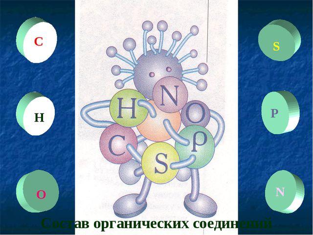 Состав органических соединений Н С О S P N