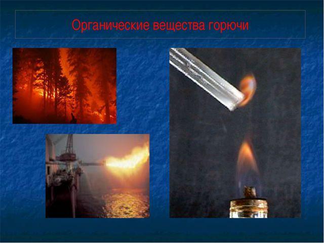 Органические вещества горючи